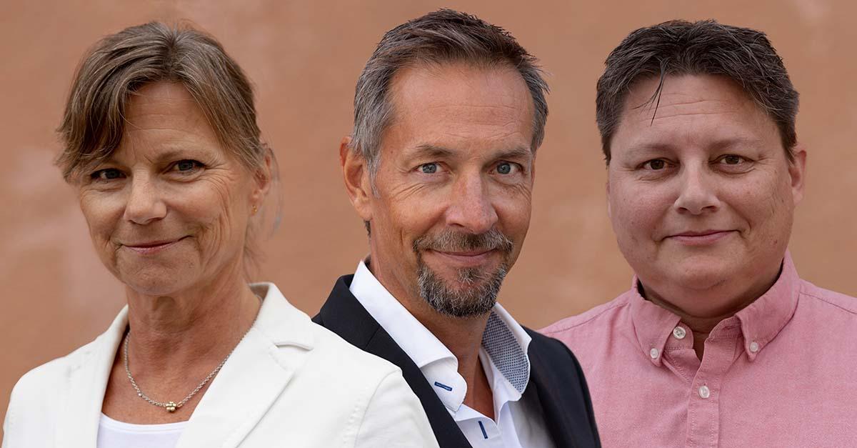 Catharina Lilja, Fredrik Nornvall och Stefan Sorpola.